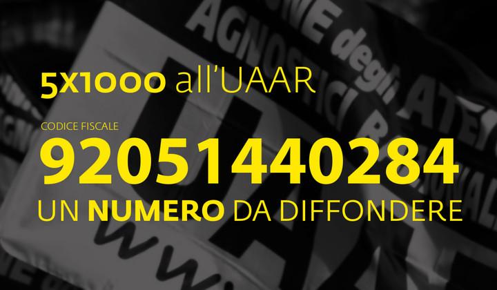 5x1000 all'Uaar: c.f. 92051440284