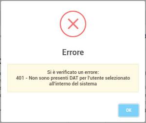 Errore DAT